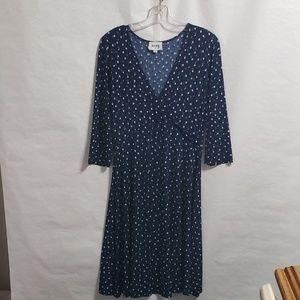 Leota polka dot 3/4 length sleeve dress